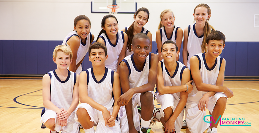 A youth basketball team.